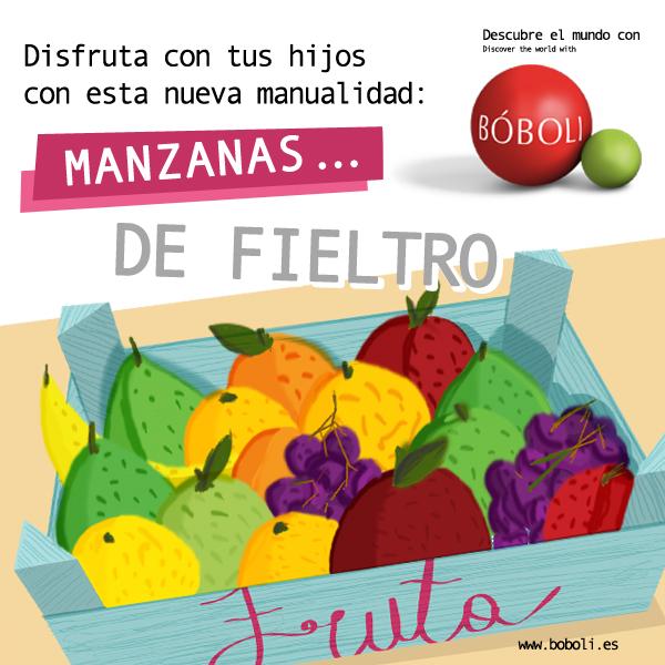 MANZANAS DE FIELTRO
