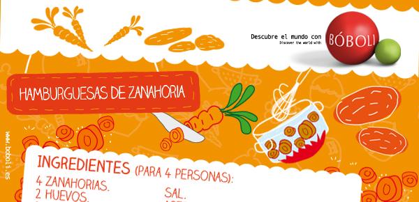 HAMBURGUESA DE ZANAHORIAS (Receta Bóboli)
