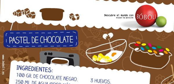 PASEL DE CHOCOLATE (Receta Bóboli)