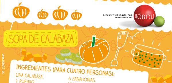 SOPA DE CALABAZA (Receta Bóboli)