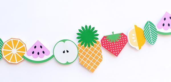 Manualidades fruta guirnaldas
