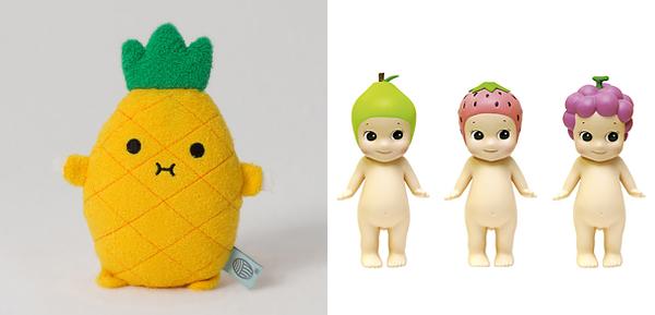 peluche fruta